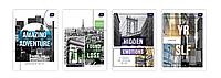Набор тетрадей ученических City 8 шт по 2 каждого дизайна А5+ 12=, Interdruk Premium