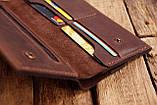 Мужское кожаное портмоне клатч mod.Nord коричневый, фото 3