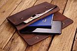 Мужское кожаное портмоне клатч mod.Nord коричневый, фото 4