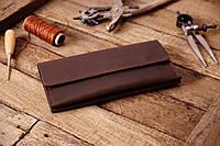 Мужское кожаное портмоне клатч mod.Nord коричневый, фото 1