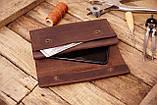 Мужское кожаное портмоне клатч mod.Nord коричневый, фото 2