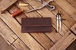Мужское кожаное портмоне клатч mod.Nord коричневый, фото 7
