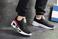 Мужские кроссовки Fila черно белые
