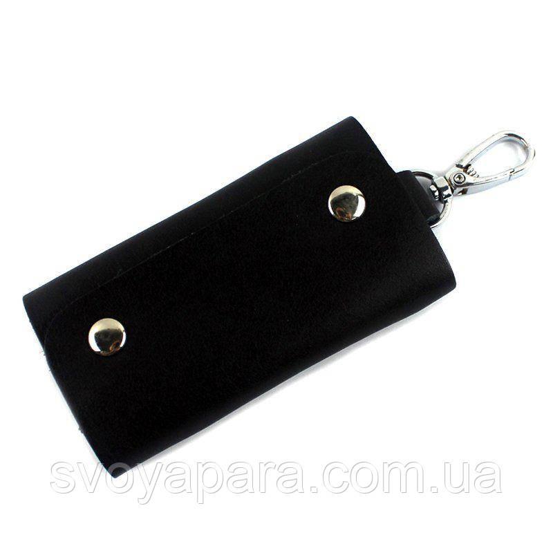 Стильная кожаная ключница Vintage 14934 Черная