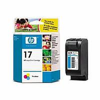 Картридж струйный HP Hewlett Packard C6625AE HP 17 Tri-Color цветной новый оригинальный (многоцветный)