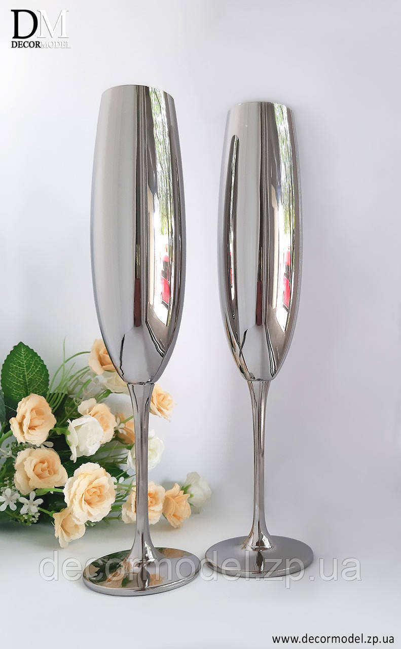 Свадебные бокалы Bohemia Fulica 250 ml (цвет: ХРОМ)