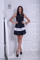 Стильная юбка-мини в складку с оригинальным геометричным принтом  Rivina