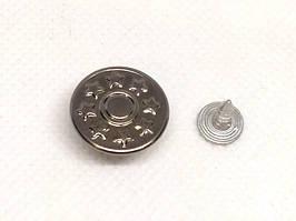 Джинсовая пуговица 17 мм Темный никель (1000 шт)