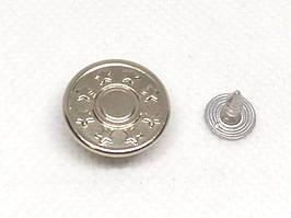 Джинсовая пуговица 17 мм Никель (1000 шт)