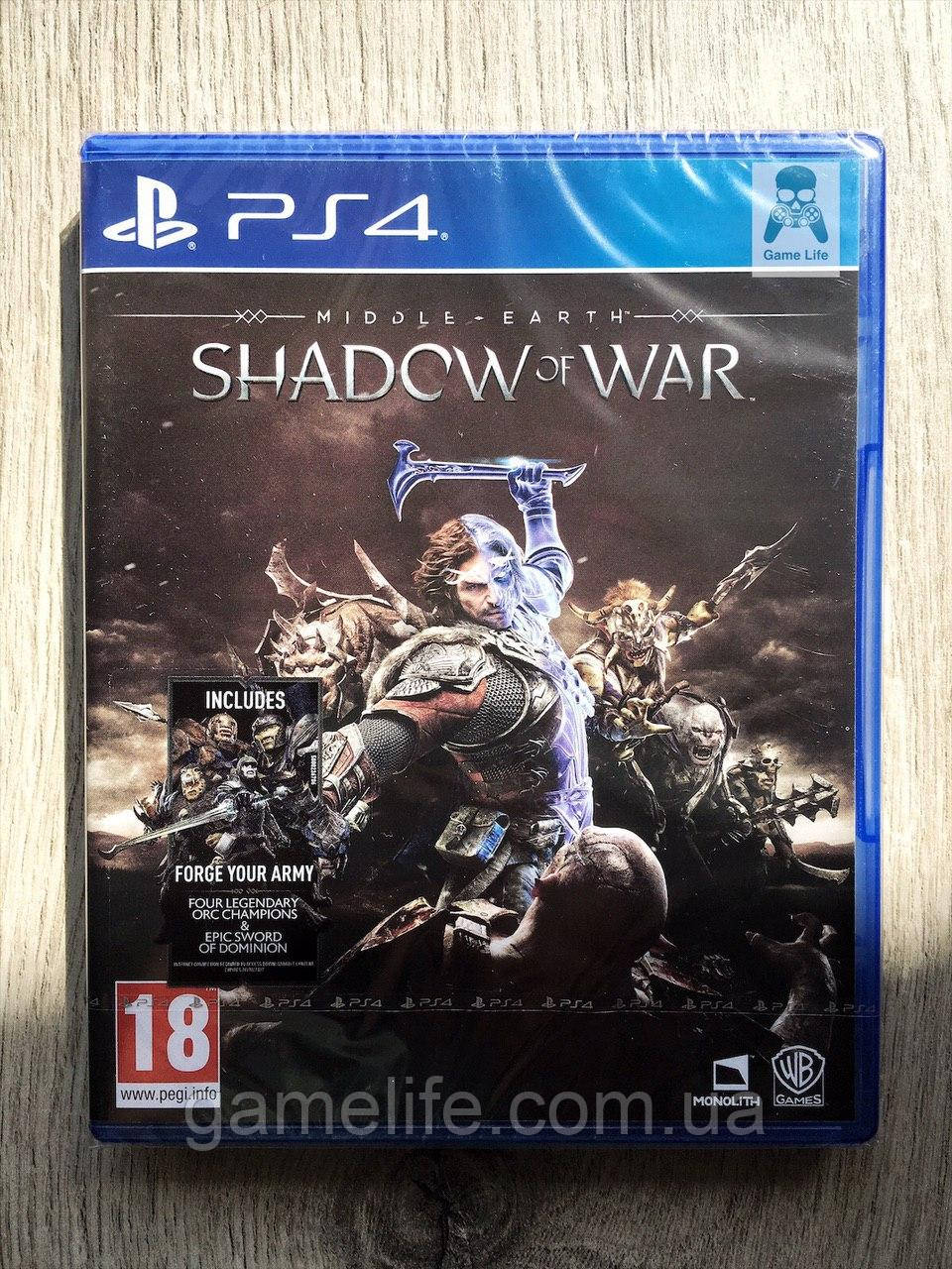 Middle-Earth Shadow of War (рус. суб.) PS4
