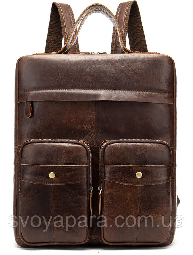 Рюкзак-сумка 2 в 1 для ноутбука Vintage 20035 Коричневый