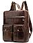 Рюкзак-сумка 2 в 1 для ноутбука Vintage 20035 Коричневый, фото 3