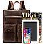 Рюкзак-сумка 2 в 1 для ноутбука Vintage 20035 Коричневый, фото 8