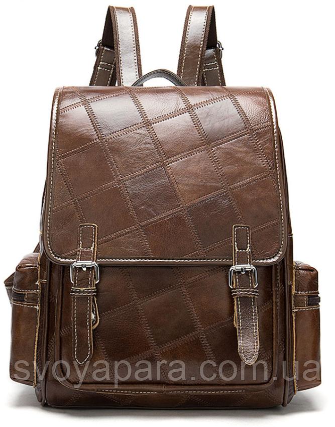 Рюкзак женский в клетку Vintage 20049 Коричневый