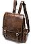 Рюкзак женский в клетку Vintage 20049 Коричневый, фото 2