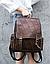 Рюкзак женский в клетку Vintage 20049 Коричневый, фото 10
