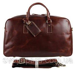 Кожаная дорожная сумка Vintage 14359 Коричневая