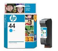 Картридж струйный HP Hewlett Packard 51644CE Cyan Синий HP 44 цветной новый оригинальный