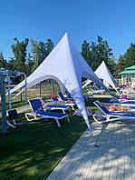 Шатер Звезда, 10 метров, белый, пляжный тент палатка, фото 1