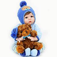 Кукла реборн 55 см мальчик Тимофей