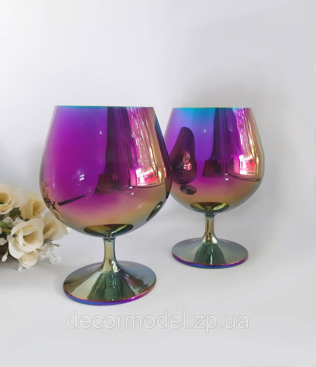 Набор бокалов для бренди Aurora Modena 400 ml (цвет: РАДУГА сияние)