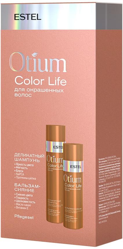 Набор для окрашенных волос шампунь + бальзам OTIUM COLOR LIFE Estel Professional 250мл/200мл