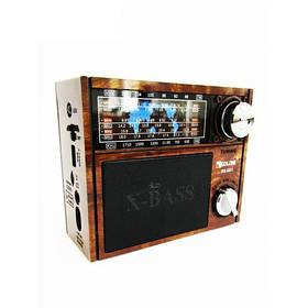 Портативная колонка радиоприемник MP3 Golon RX-201 Wooden