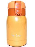 Термос железный In Love SLD-250OR 200мл, оранжевый, фото 1