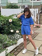 """Детский летний костюм для девочки """"Ульяна"""" с шортами и рубашкой (2 цвета)"""