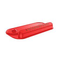 Автовизитка с держателем для телефона Baseus Horizon Silicone Parking Number Card Bracket Red  (ACNUM-PM01)