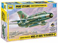 """Сборная модель """"Советский истребитель МиГ-21 БИС"""" (масштаб: 1/72) Zvezda (7259), фото 1"""