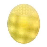 Силиконовая щетка массажер для умывания и очищения кожи лица Yellow