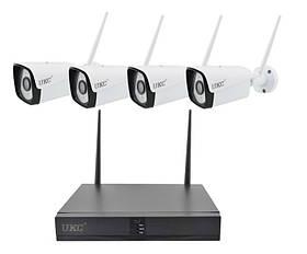 Видеорегистратор 4 канальный и 4 камеры DVR KIT CAD Full HD UKC 8004/6673