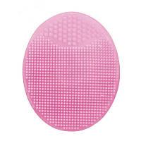 Силиконовая щетка массажер для умывания и очищения кожи лица Light Pink