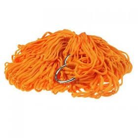 Гамак сетка на кольцах 270х80см Orange