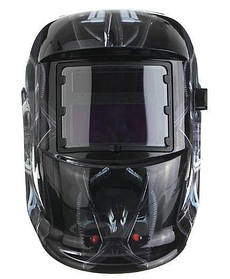 Сварочная маска хамелеон 5367, черный с принтом