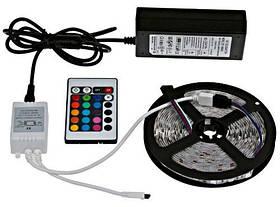 Светодиодная лента в комплекте SMD 5050 RGB + блок питания и пульт