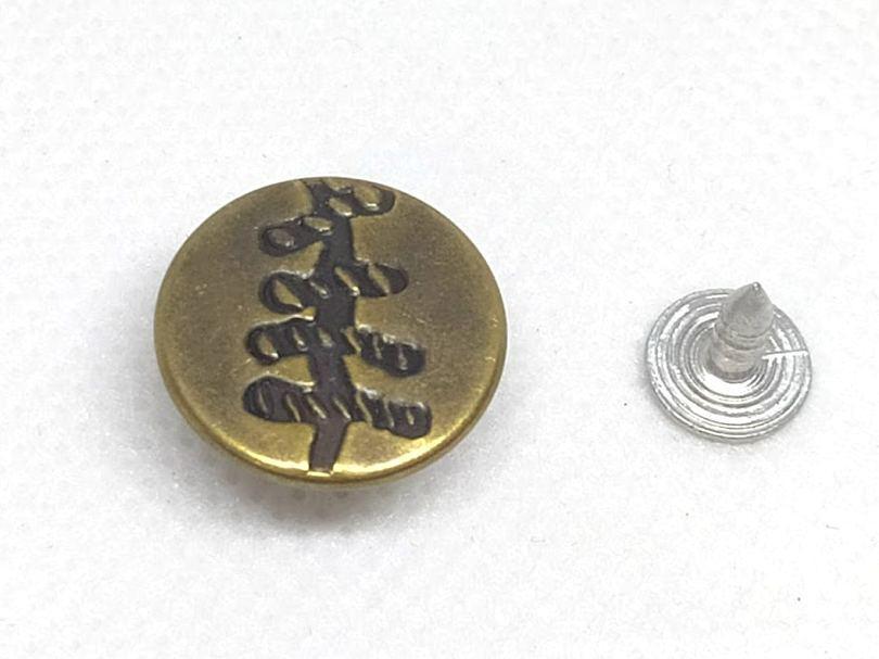 Джинсовая пуговица 17 мм Антик (1000 шт)