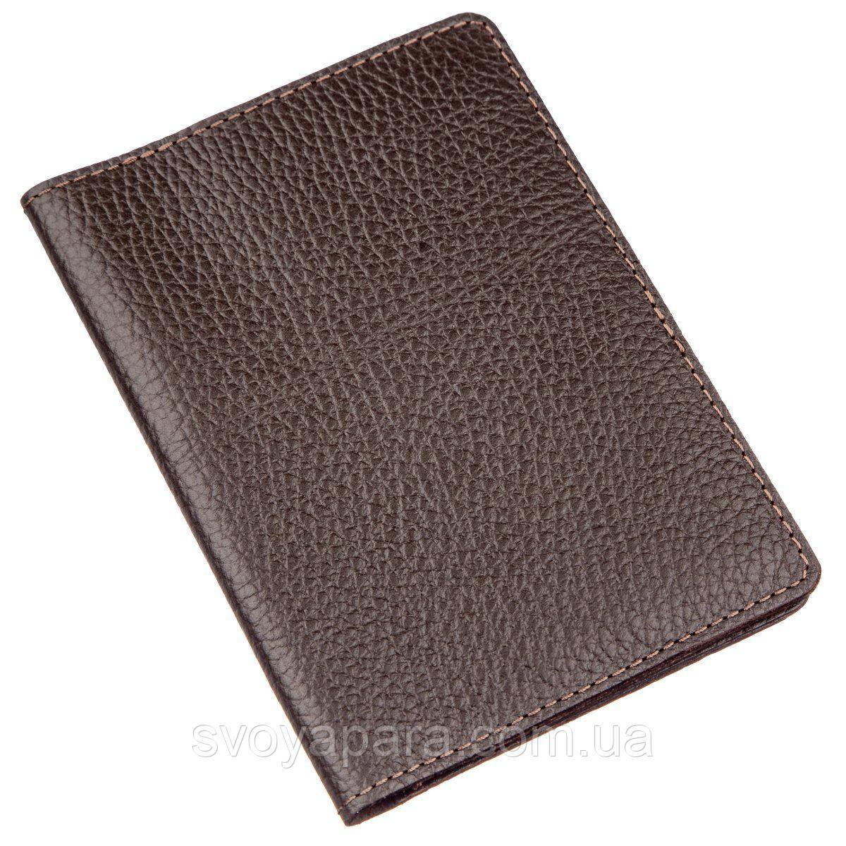 Бумажник-обложка для паспорта Shvigel 13960 кожаная Коричневая