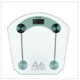 Электронные напольные весы Digital 150 кг квадрат, прозрачные