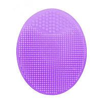 Силиконовая щетка массажер для умывания и очищения кожи лица Violet
