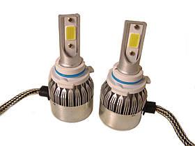 Комплект автомобильных LED ламп C6 в туманки MHZ 9006, 6000К