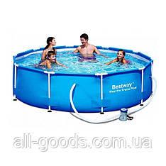 Каркасный бассейн Bestway 56408 (305х76см) с фильтр насосом