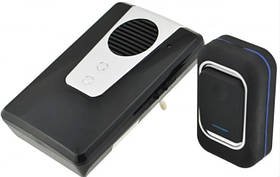 Звонок дверной беспроводной звук свет Luckarm А3905 220В, черный