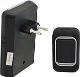 Звонок дверной беспроводной звук свет Luckarm А3905 220В, черный, фото 2