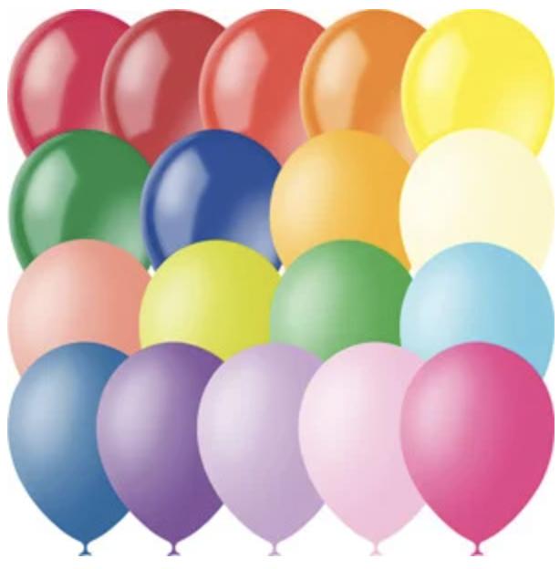 """Кулька Latex Oc. Мексика 12"""" пастель + декоратор асорті (100 шт.)"""