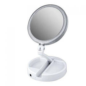 Зеркало косметическое FOLD AWAY LED 10x zoom