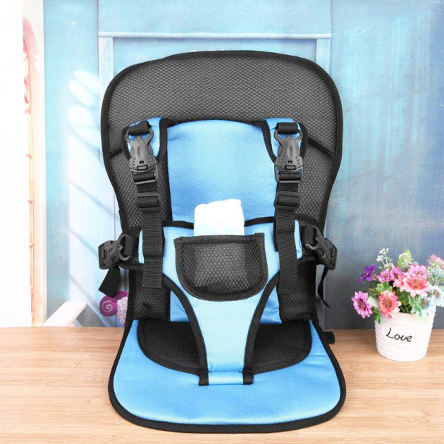 Дитяче безкаркасне автокрісло Multi Function Car Cushion Blue