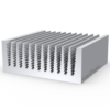 Охолоджувач силових модулів радіаторний алюмінієвий профіль 74х39 мм
