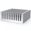 Охладитель силовых модулей радиаторный алюминиевый профиль 74х39 мм, фото 1